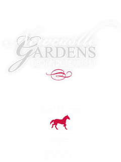 newcastle gardens bed and breakfast and red horse barn logo